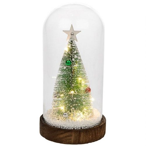 LED Glass Dome with Medium Sisal Christmas Tree